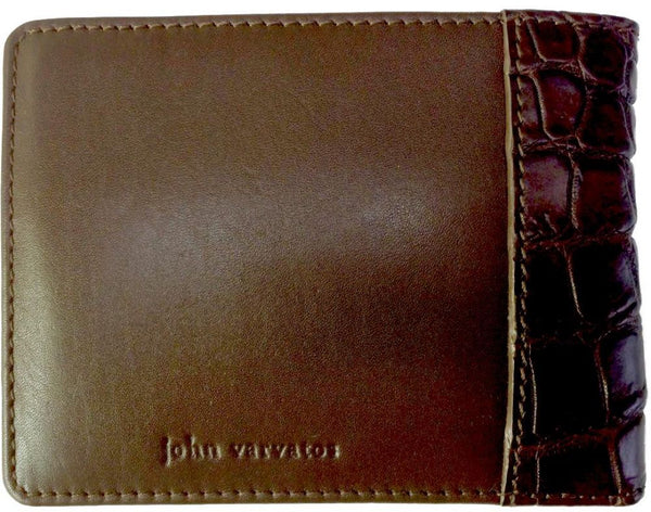 John Varvatos Dark Brown Leather - Bifold Wallets