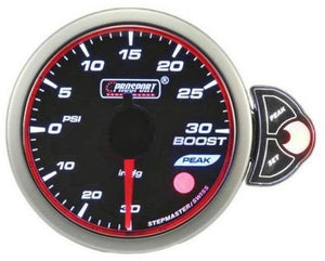 Prosport Boost Gauge Electric W/ Sender, Amber 52mm