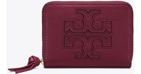 Tory Burch Harper Zip Coin Case, Merlot