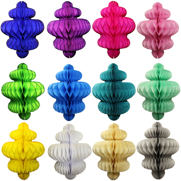 10 Inch Honeycomb Chandelier Decoration - 6-Pack - MULTIPLE COLORS