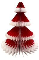 12 Inch Honeycomb Christmas Tree - Frosted Design (3-pack)