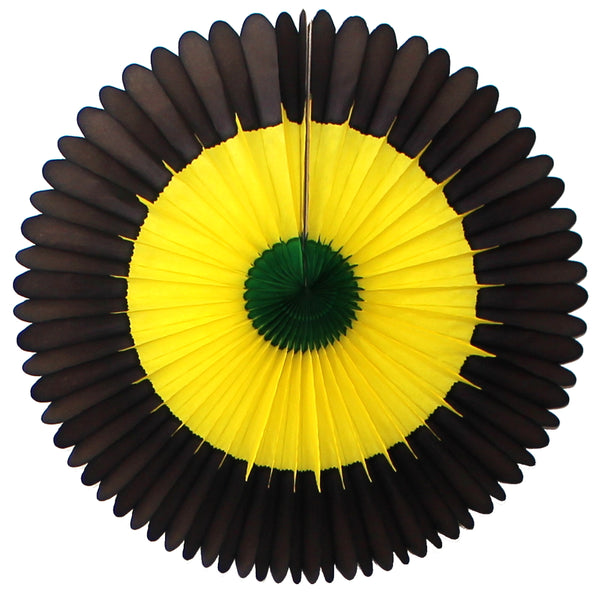 3-Pack 13 Inch Jamaican Tissue Fan Decoration