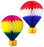 16 Inch Honeycomb Hot Air Balloon - MULTIPLE OPTIONS