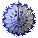 19 Inch Tissue Snowflake - Dip-Dyed Edges (6-pack)