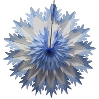 19 Inch Tissue Snowflake - Dip-Dyed Edges (3-pack)