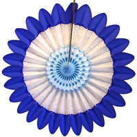 3-Pack Blue & White Fanburst Decoration