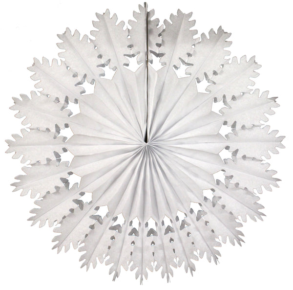 26 Inch Extra-Large Tissue Paper Snowflake Decorations (Single Snowflake)