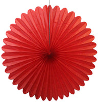 27 Inch Extra-Large Deluxe Tissue Fans - 6-pack - MULTIPLE COLOR OPTIONS