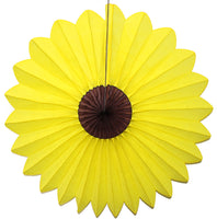 Sunflower Tissue Fans - 3-pack - MULTIPLE SIZES