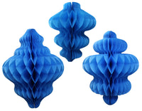 Set of 3 Honeycomb Ornaments (8 inch, 10 inch, 11 inch) - MULTIPLE COLORS