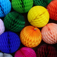 Large 14 Inch Honeycomb Balls (3-Pack) - Solid Colors