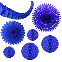 7-Piece Dark Blue Honeycomb Decoration Set