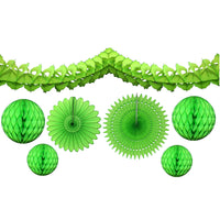 7-Piece Lime Green Honeycomb Decoration Set