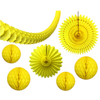 7-Piece Yellow Honeycomb Decoration Set