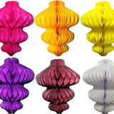 8 Inch Honeycomb Ornament Decoration - 6-Pack - MULTIPLE COLORS
