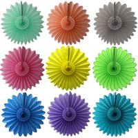 27 Inch Tissue Fanbursts - 3-pack - MULTIPLE COLOR OPTIONS
