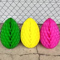 Large 18 Inch Honeycomb Egg Decoration - MULTIPLE COLORS (single egg)