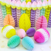 3-Pack 16 Inch Honeycomb Easter Egg Decoration - MULTIPLE COLORS - SOLID