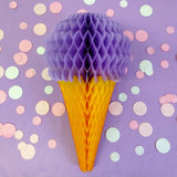 20 Inch Ice Cream Honeycomb Decoration - 3-Pack - ALL COLORS