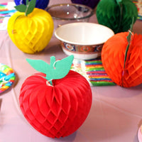 7 Inch Honeycomb Apple Decoration (3-pack)