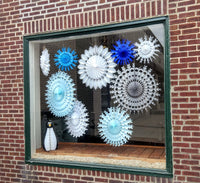 5-Piece Winter Mix Snowflakes, White and Blue (15, 22 Inch)