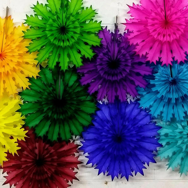 19 Inch Tissue Snowflake - Solid Colors (3-pack)