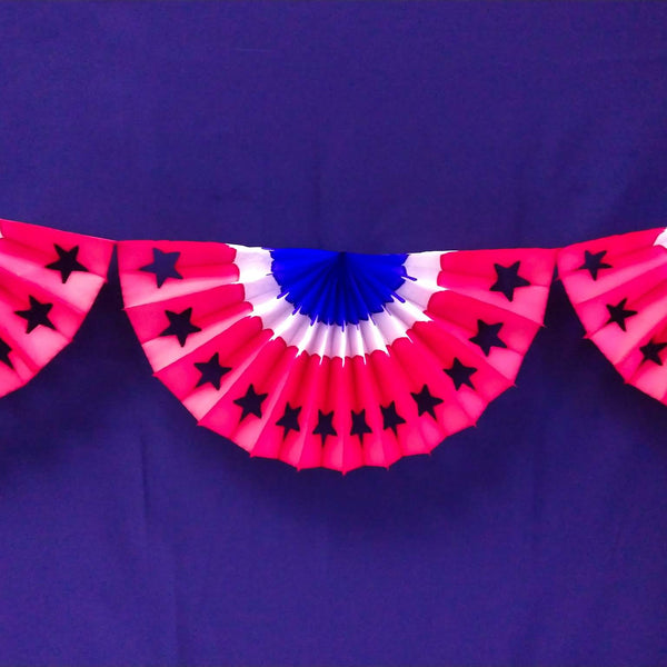 9 Foot Patriotic Star Bunting Garland