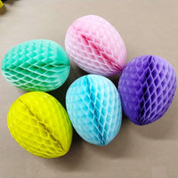 6-Piece 9 Inch Honeycomb Easter Egg Decoration - MULTIPLE COLORS