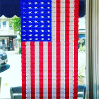 "US Flag Honeycomb Paper Decoration (27"" X 48"")"