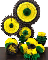 8-Piece Set of Jamaican Honeycomb Fruit Decorations