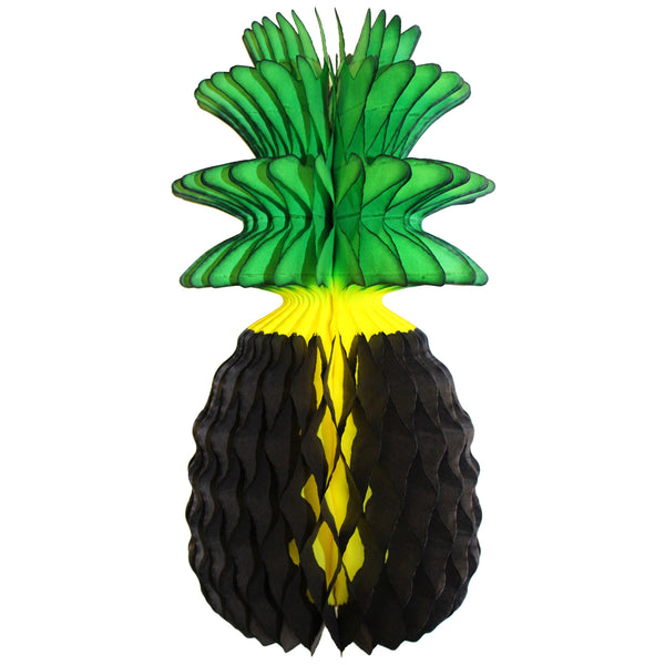 13 Inch Jamaican Dyed Honeycomb Pineapple Decoration (3-pack)