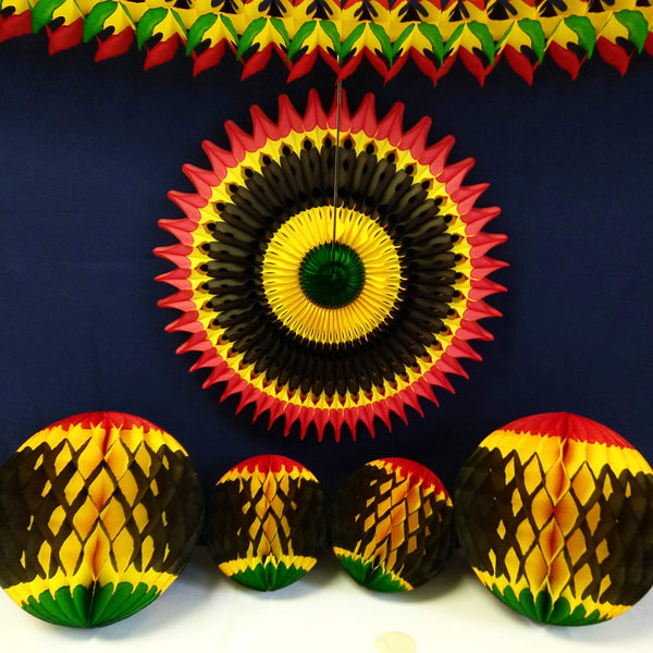 6-Piece Kwanzaa Honeycomb Decoration Set