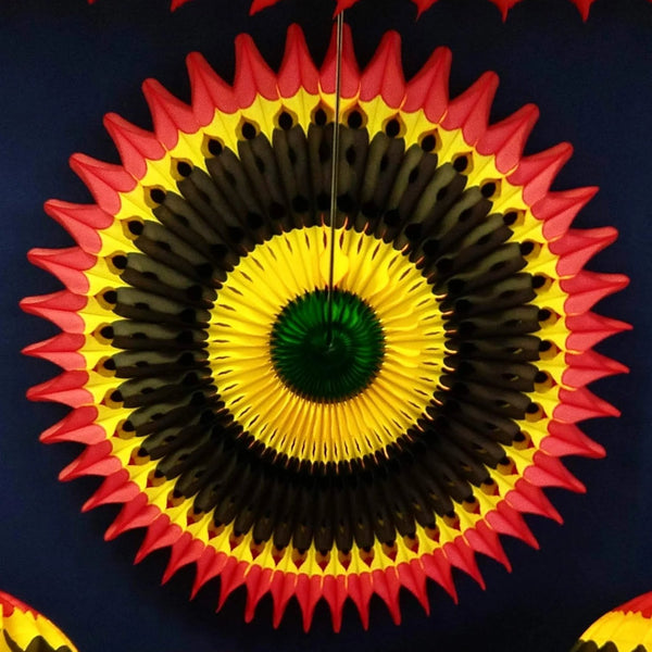 Kwanzaa African Heritage Tissue Fan Decoration