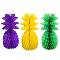 13 Inch Mardi Gras Pineapple Decorations - Solid