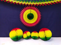Rasta Honeycomb Balls, 3-Pack (Assorted Sizes)