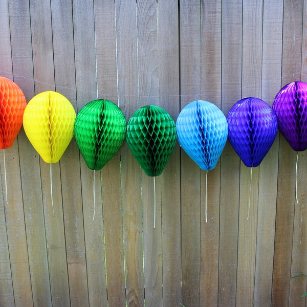 6-Pack 11 Inch Honeycomb Paper Balloons - MULTIPLE COLORS