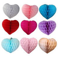 3-Pack 14 Inch Honeycomb Hearts - MULTIPLE COLORS
