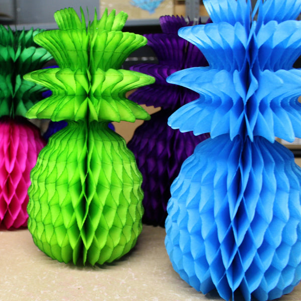 13 Inch Pineapple Decorations (Assorted Color 3-pack)