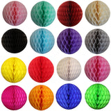 Set of 3 Assorted Honeycomb Balls - 5 Inch, 8 Inch, & 12 Inch - MULTIPLE COLORS