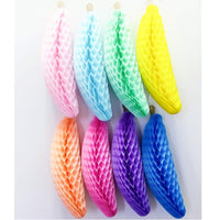 Rainbow Themed 15 Inch Honeycomb Bananas (6-Piece)