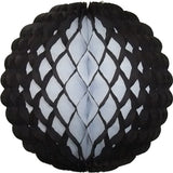 Small 8 Inch Honeycomb Puff Balls (3-Pack) - White Center