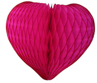 6-Pack 12 Inch Honeycomb Hearts - MULTIPLE COLORS