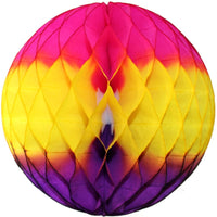 Cerise Yellow Purple Honeycomb Balls, 3-Pack (Assorted Sizes)
