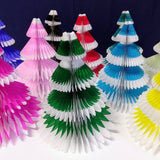 12 Inch Honeycomb Christmas Tree - Frosted Design (single tree)