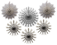 Set of 6 Tissue Paper Snowflakes - 15, 19, 22 Inch - MULTIPLE COLOR OPTIONS