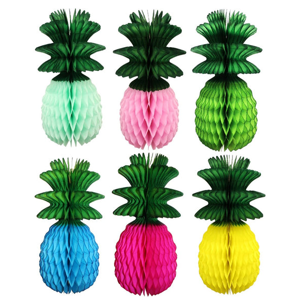 13 Inch Pineapple Decoration with Green Leaf (3-pack)