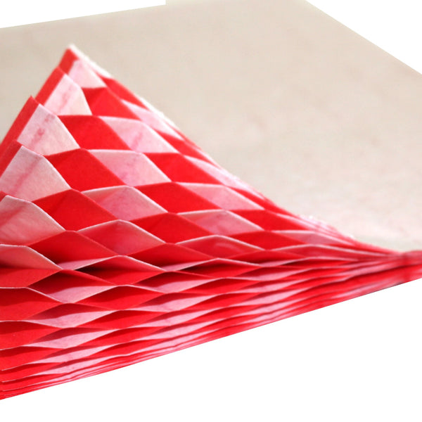 Honeycomb Craft Paper - Red & White (Two-Tone)