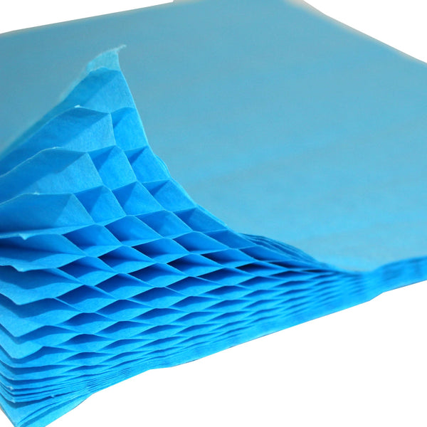 Honeycomb Craft Paper - Turquoise Blue