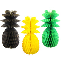 13 Inch Jamaican Pineapple Decoration - Solid (3-pack)