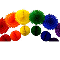 12-Piece Large Rainbow Party Decoration Kit